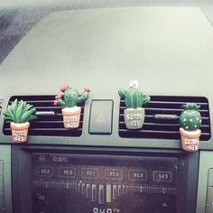 Cactus Car Air Vent Decoration - set of 4 - Car accessories - . Cactus Car Air V Maserati Ghibli, Girly Car, Car Essentials, Aston Martin Vanquish, Car Accessories For Girls, Vehicle Accessories, Car Interior Accessories, Fashion Accessories, Car Goals
