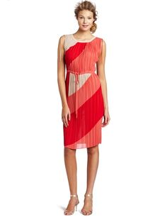 BCBGMAXAZRIA Pleated Tie Dress - Just Sexy