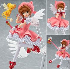 This cute Cardcaptor Sakura Figure comes with many customizable components - smiling, battle and even flying poses! Great collectible for Cardcaptor Sakura fans! Dimensions: 16cm Material: PVC Theme: