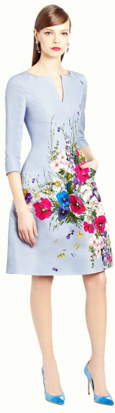 Cheap dress Buy Quality dress sweetheart directly from China dress m Suppliers: Fashion Flower Print Women A-Line Dress Half Sleeves Casual Dresses Floral Fashion, High Fashion, Fashion Dresses, Womens Fashion, Fashion Design, Casual Dresses, Lovely Dresses, Beautiful Outfits, Pretty Outfits