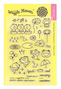 Waffle Flower TOADALLY Clear Stamp Set 271163