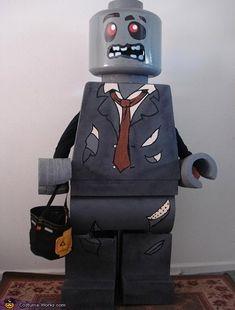 Lego zombie diy costume