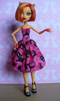 Monster High Toralei wearing a kitty dress by redmermaidwerewolf