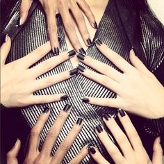 When it comes to things like crackle coats, impossibly detailed patterns and tacky appliqués, over-the-top nail art is dead. But minimal, graphic shapes in contrasting colors have been making a strong