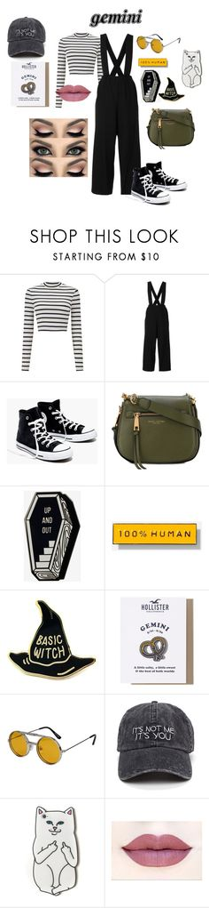 """gemini"" by punkrockwasneverdead on Polyvore featuring Miss Selfridge, Madewell, Marc Jacobs, Everlane, Hollister Co., Spitfire, RIPNDIP, GREEN, gemini and odiac"