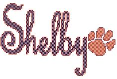 A personal favorite from my Etsy shop https://www.etsy.com/listing/112103308/personalized-childrens-name-cross-stitch
