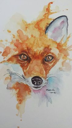 20 best watercolor fox images in 2018 Animal Paintings, Animal Drawings, Art Drawings, Watercolor Artwork, Watercolor Animals, Fox Watercolour, Watercolor Fox Tattoos, Illustration Inspiration, Fox Painting