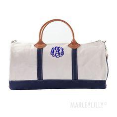 Monogrammed Round Duffel Bag | Marleylilly