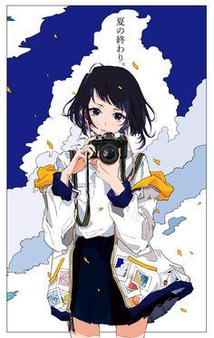 Anime girl..kawaii..illustration..