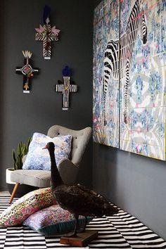 Paradiso by Jai Vasicek Interior Styling, Interior Decorating, Crosses Decor, Homewares Online, Art N Craft, Gallery Walls, Contemporary Interior, Cosy, Beautiful Things
