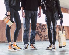 The Crew✖️matching black & orange . Fair Trade, Cambodia, Knee Boots, Recycling, Orange, Sneakers, Handmade, Photography, Bags