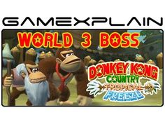 Donkey Kong Country: Tropical Freeze - World 3 Boss Fight Playthrough (J...