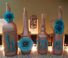 HOME wine bottles by LandisByDesign on Etsy