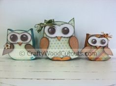 Owls Wood Craft Project...so cute for fall! Want these!