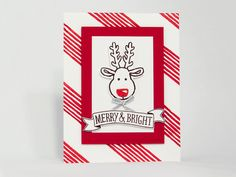 Merry & Bright Reindeer Brandys Cards Stampin' Up! Cookie Cutter Christmas, Cookie Cutter Builder Punch, Stitched with Cheer, Basket for You… video tutorial from Brandy Cox https://www.youtube.com/watch?v=am6aJu6yy94