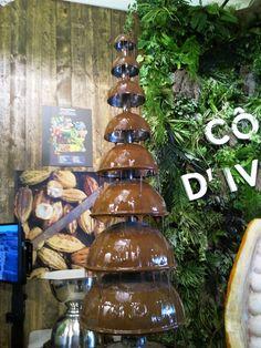 Fontana di cioccolato....Che profumo!!!! #ClusterCacao #CostadAvorio #Expo2015