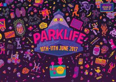 Parklife is an annual music festival attracting 75,000 people to Heaton park, Manchester, Uk. Illustration and brand by Studio Moross.