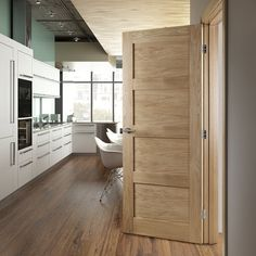 Internal Coventry Oak Veneer 4 Panel Shaker Door 1981 x 533 x 35mm