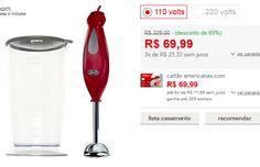 Mixer Oster Vermelho com Copo Haste Inox << R$ 6999 em 3 vezes >>