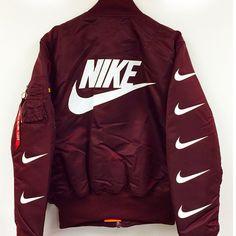 Nike Black Bomber Jacket-- when I'm feeling tomboyish