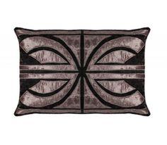 Hollywood Pewter Velvet Rectangular Cushion cover