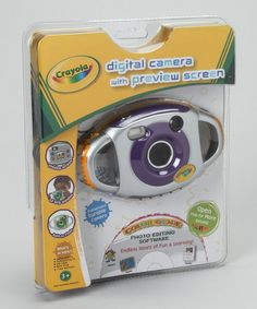 Take a look at this Purple Crayola Kidz Digital Camera Set by Crayola on #zulily today!