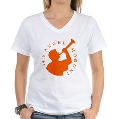 Angel Moroni Orange Women's T-Shirt Zazzle.com/AngelMoroni cafepress.com/AngelMoroni