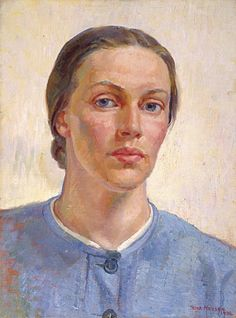 Nora Heysen (Australian, 1911 - 2003), Self-Portrait, 1938. Heysen was the first woman artist to win the prestigious Archibald Prize for portraiture and the first Australian woman appointed as an...