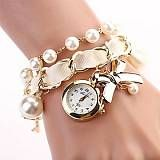 Women Hang Bow Bracelet Watch New Pearl Series WatchesAssorted Colors CD118- http://www.siboom.co.uk/search.php?k=watches%20for%20women LightInTheBox UK GenderWomens MovementQuartz Movement typeQuartz TypeBracelet Watch DisplayAnalog StylePearl Case MaterialAlloy Dial ColorWhite Case Diameter Approx22mm Case Thickness Approx5mm Band MaterialAlloy Band Length Approx CM33 Net Weightkg0036