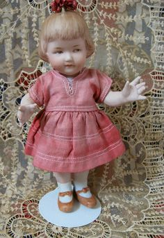 Large All Bisque Antique Heubach Doll