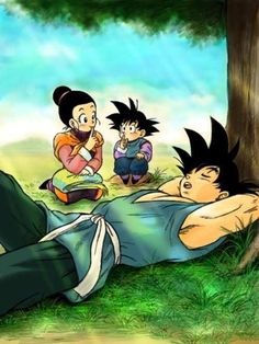 Goku, Goten y Milk