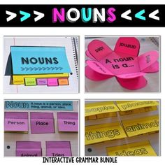 Grammar Interactive Notebooks, Parts of Speech, Interactiv