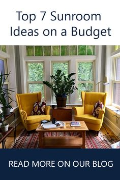 Top 7 Sunroom Ideas on a Budget. For more tips and pics visit our blog at www.gambrick.com
