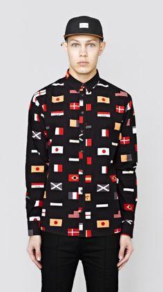 I Love Ugly - flag shirt Cow Shirt, Flag Shirt, Black Long Sleeve Shirt, Long Sleeve Shirts, Pants Drawing, I Love Ugly, Cropped Trousers, Classic Man, Men Looks