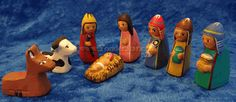 Diminutive eight piece nativity set made from tiny ceramic figures, each skillfully hand painted in traditional Peruvian clothing. School Scholarship, Our Savior, Ceramic Figures, Poor Children, Christmas Love, Tis The Season, Nativity, Great Gifts, Artisan