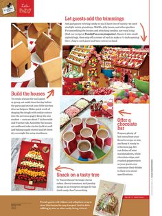 Cute ideas for Gingerbread House party