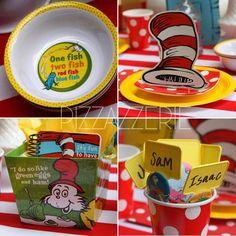 Dr Seuss Cat in Hat Lorax Grinch Edible CupcakeToppers FREE SHIPPING in Canada