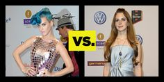Who Wore It Better? Echo Awards Glam: Katy Perry Vs. Lana Del Rey. See full looks here: http://buzznet.com/~6513bdd