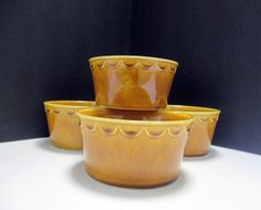 Homer Laughlin Sheffield Granada Golden Harvest - Open Soup Utility Bowls - Set of 4 - Very Hard to Find by MarieWarrenArts on Etsy