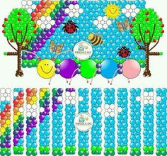 Spring scene balloon wall