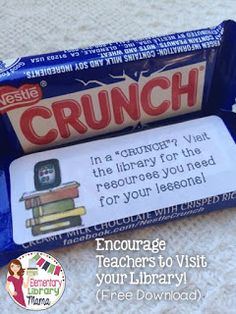 Elementary Library Mama: How do you Encourage Collaboration with Classroom Teachers? (Hint: Chocolate is involved! Library Themes, Library Book Displays, Library Ideas, Elementary Library Decorations, Middle School Libraries, Elementary School Library, Classroom Libraries, Classroom Decor, Library Lesson Plans