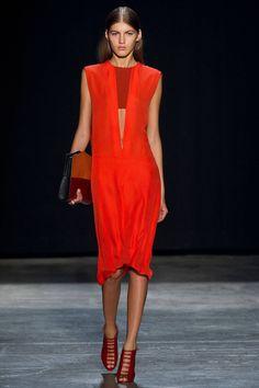 Blood Orange + Red. Narciso Rodriguez Spring 2013. #narcisorodriguez #nyfw