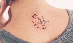 Imagem de tattoo, origami, and flowers