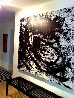 """Bilder aus der Reihe """"Musikstücke"""".    Größe: 210 x 100 cm - ungerahmt    oder 160 x 100 cm gerahmt auf Keilrahmen sowie 100 x 100 cm. Auftragsmalerei"""