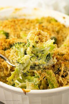 Easy Broccoli Casserole Recipe - Feeding Your Fam Tasty Broccoli Recipe, Butter Broccoli, Broccoli Recipes, Easy Broccoli Casserole, Casserole Dishes, Casserole Recipes, Vegetable Side Dishes, Side Dishes Easy, Oven Baked Asparagus