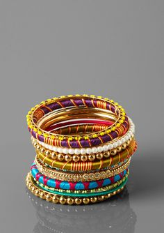 R.J. GRAZIANO Fabric Bangle Set