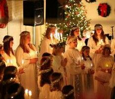 St. Lucy Day at the Swedish Museum,  Andersenville, Chicago