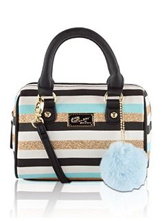 Betsey Johnson Harlie Mini Satchel Crossbody Bag Blue G Betsy Purses