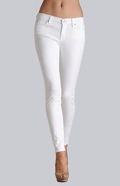 7 For All Mankind - THE SKINNY COLOURED GUMMY WHITE