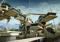 Conceptual architecture photography